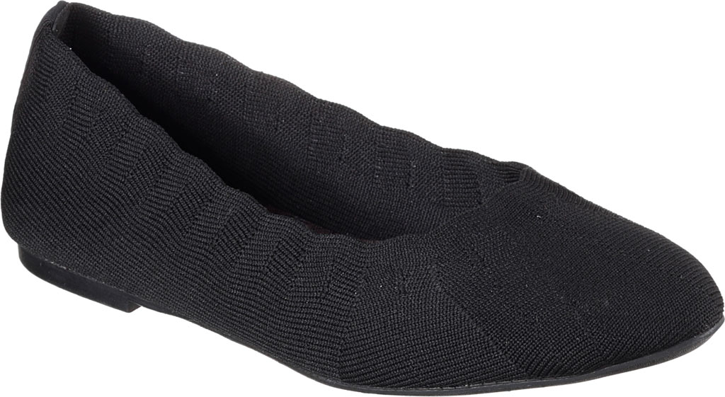 Women's Skechers Cleo Bewitch Ballet Flat, Black, large, image 1