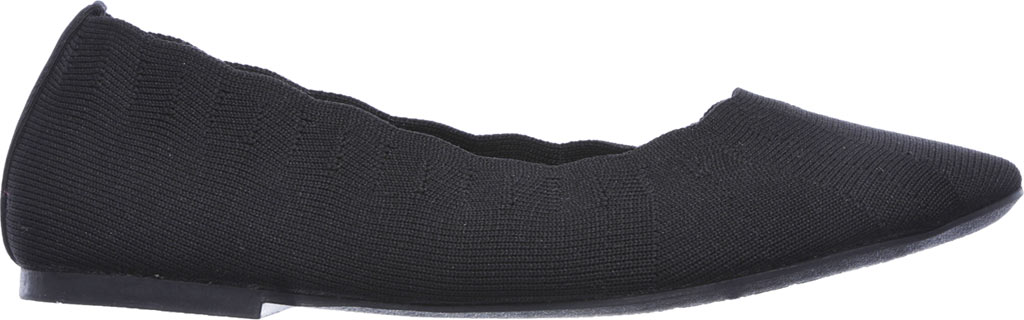 Women's Skechers Cleo Bewitch Ballet Flat, Black, large, image 2