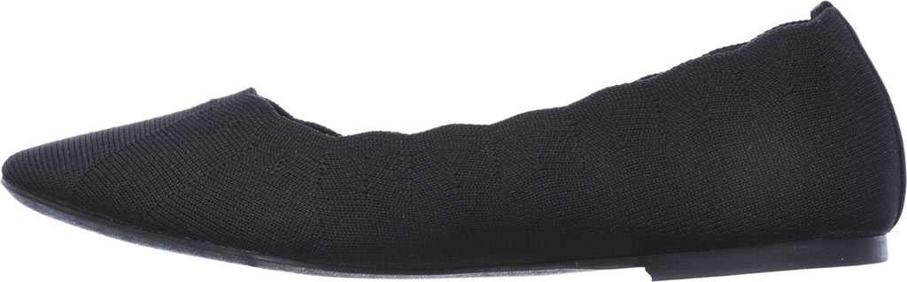 Women's Skechers Cleo Bewitch Ballet Flat, Black, large, image 3