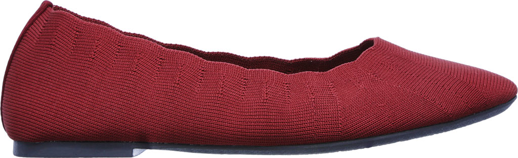 Women's Skechers Cleo Bewitch Ballet Flat, Red, large, image 2