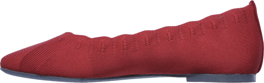 Women's Skechers Cleo Bewitch Ballet Flat, Red, large, image 3