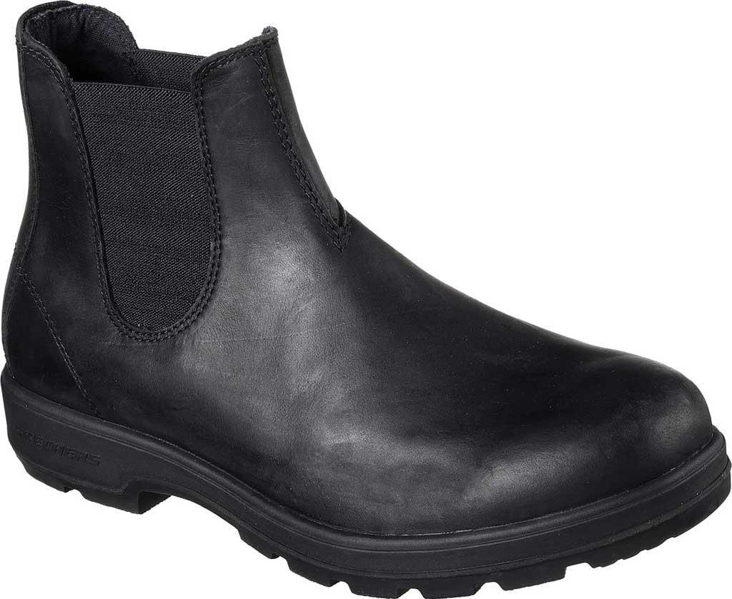 Men's Skechers Relaxed Fit Molton Gaveno Chelsea Boot, Black/Black, large, image 1