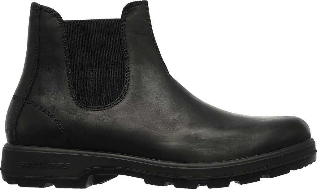 Men's Skechers Relaxed Fit Molton Gaveno Chelsea Boot, Black/Black, large, image 2