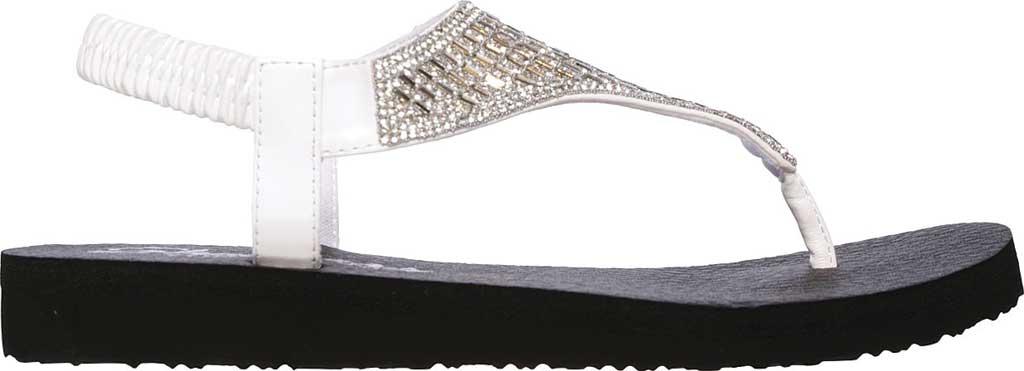 Women's Skechers Meditation Rock Crown Thong Sandal, White, large, image 2