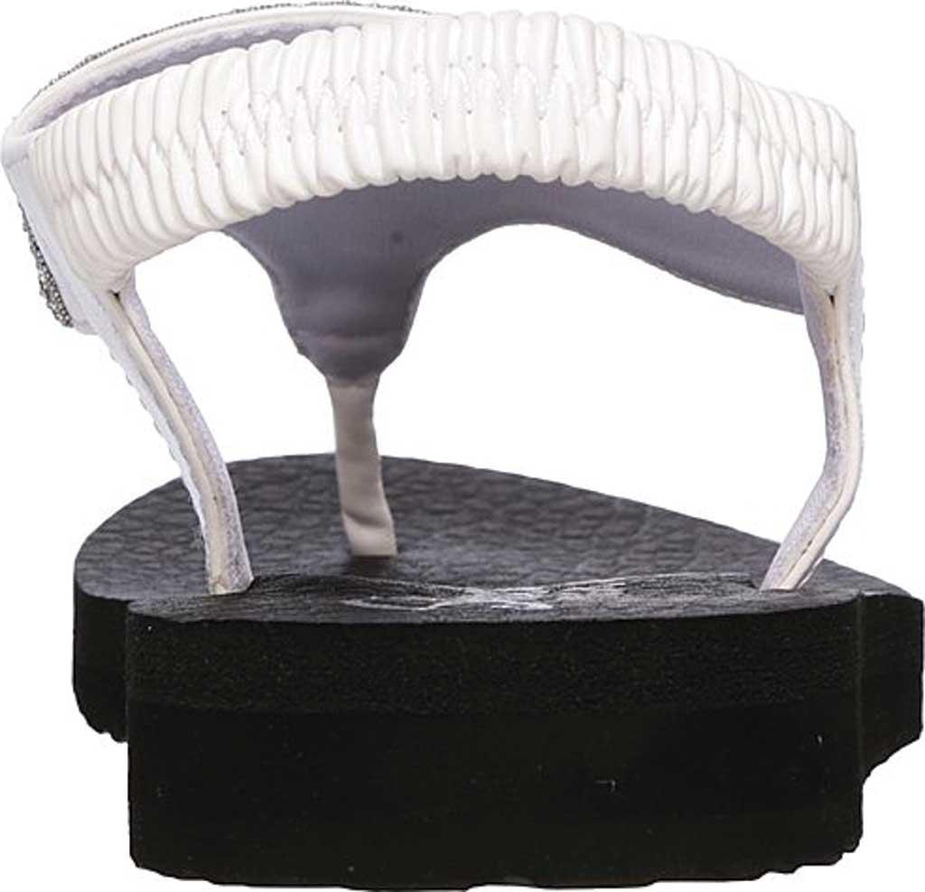 Women's Skechers Meditation Rock Crown Thong Sandal, White, large, image 4