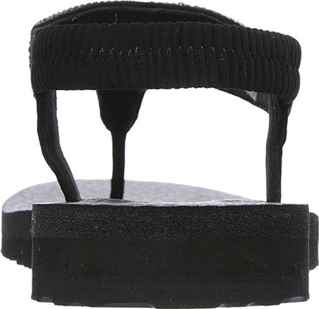 Women's Skechers Meditation Rock Crown Thong Sandal, Black, large, image 4