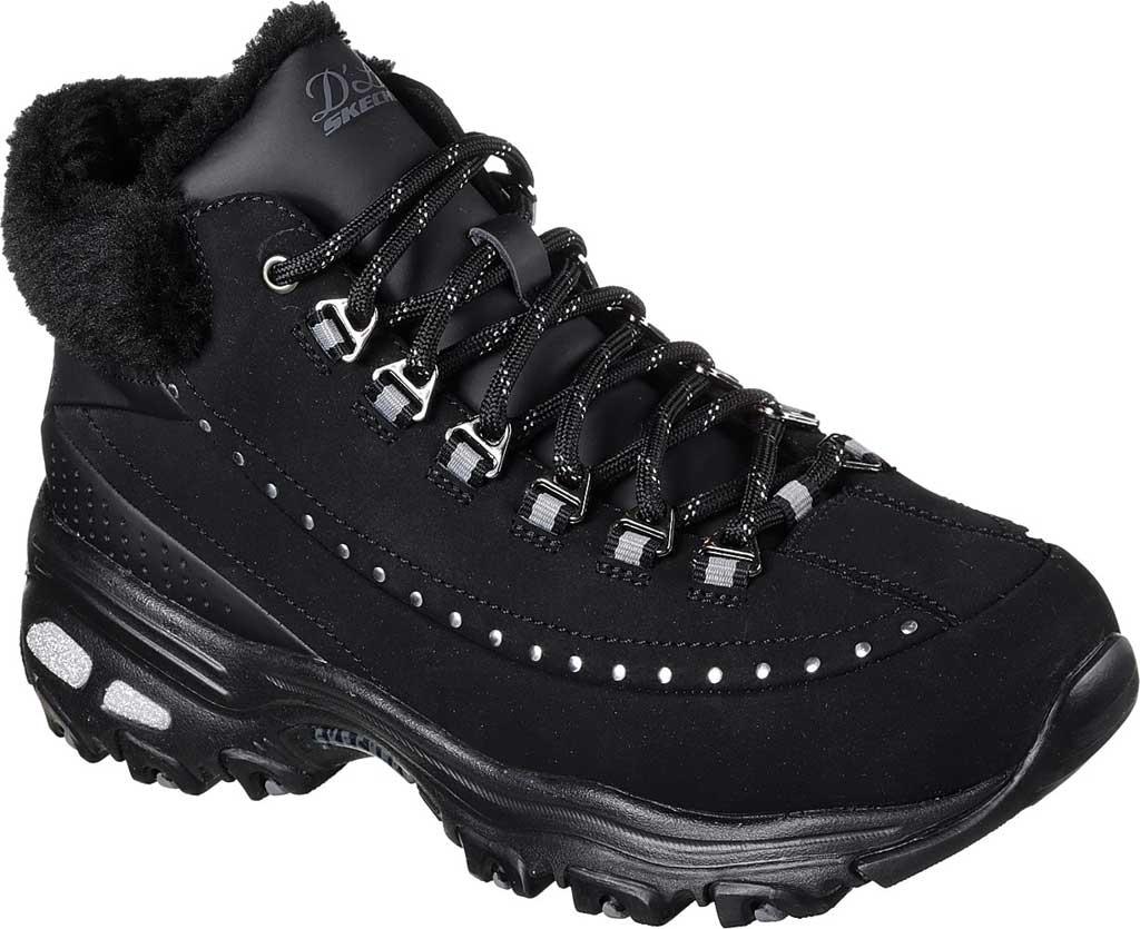 Women's Skechers D'Lites Gleeful Ankle Boot, Black, large, image 1