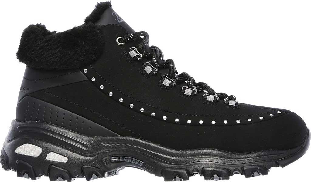 Women's Skechers D'Lites Gleeful Ankle Boot, Black, large, image 2