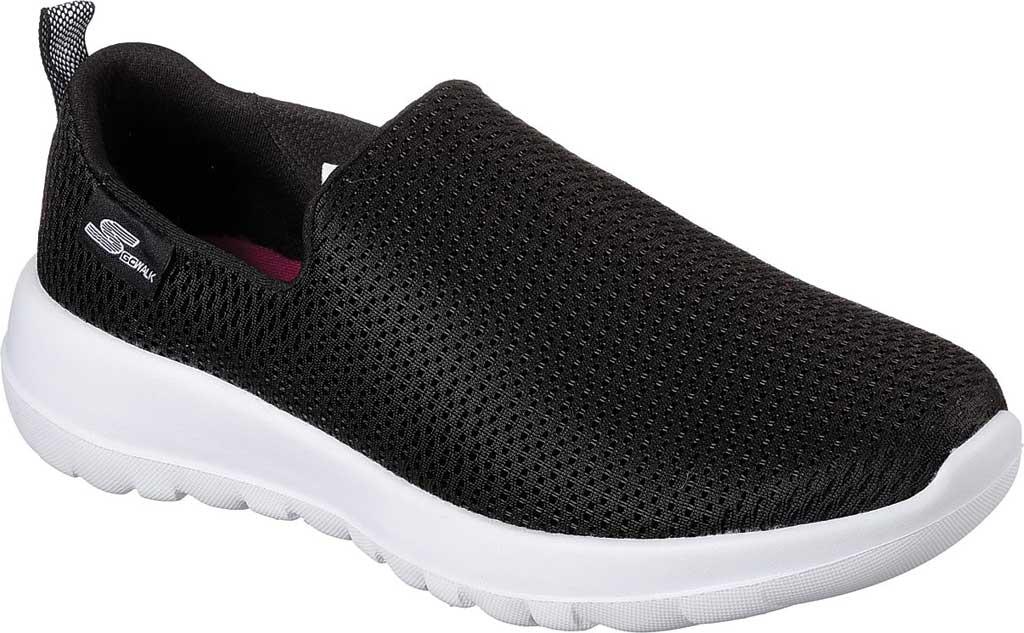 Women's Skechers GOwalk Joy Walking Slip On Sneaker, Black/White, large, image 1