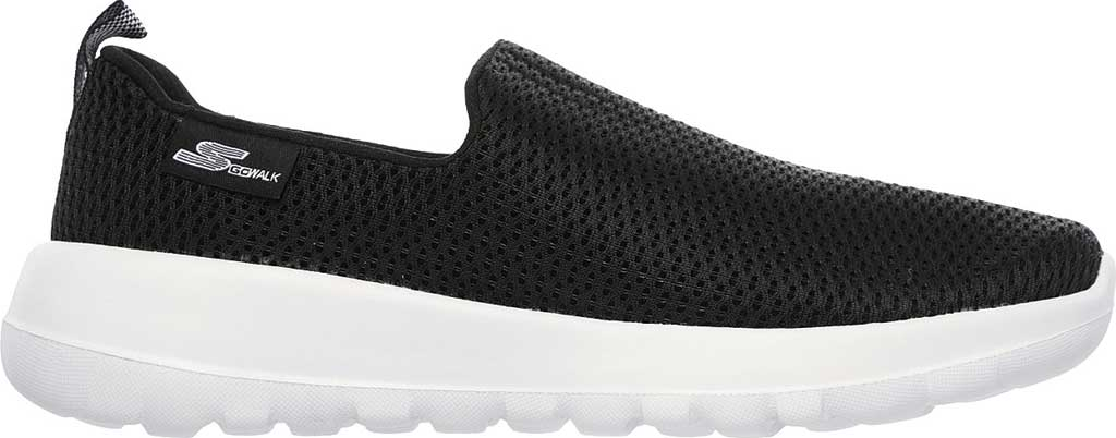 Women's Skechers GOwalk Joy Walking Slip On Sneaker, Black/White, large, image 2