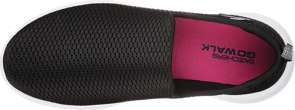 Women's Skechers GOwalk Joy Walking Slip On Sneaker, Black/White, large, image 5