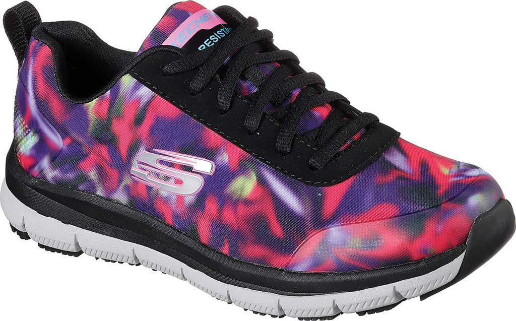 Women's Skechers Work Relaxed Fit Comfort Flex Pro HC SR Sneaker, Black/Multi, large, image 1