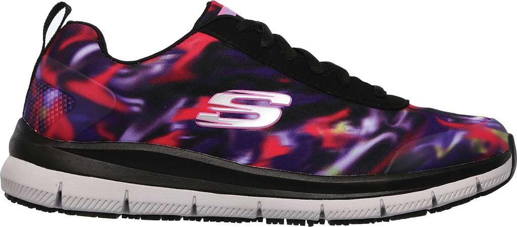 Women's Skechers Work Relaxed Fit Comfort Flex Pro HC SR Sneaker, Black/Multi, large, image 2