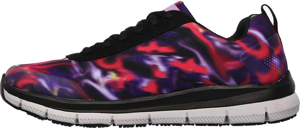 Women's Skechers Work Relaxed Fit Comfort Flex Pro HC SR Sneaker, Black/Multi, large, image 3