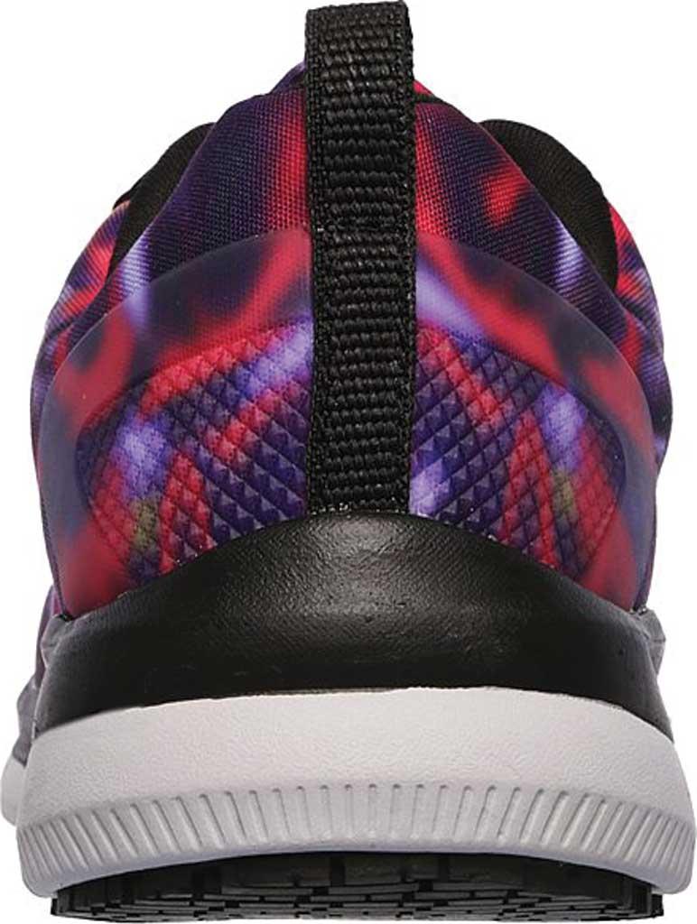 Women's Skechers Work Relaxed Fit Comfort Flex Pro HC SR Sneaker, Black/Multi, large, image 4