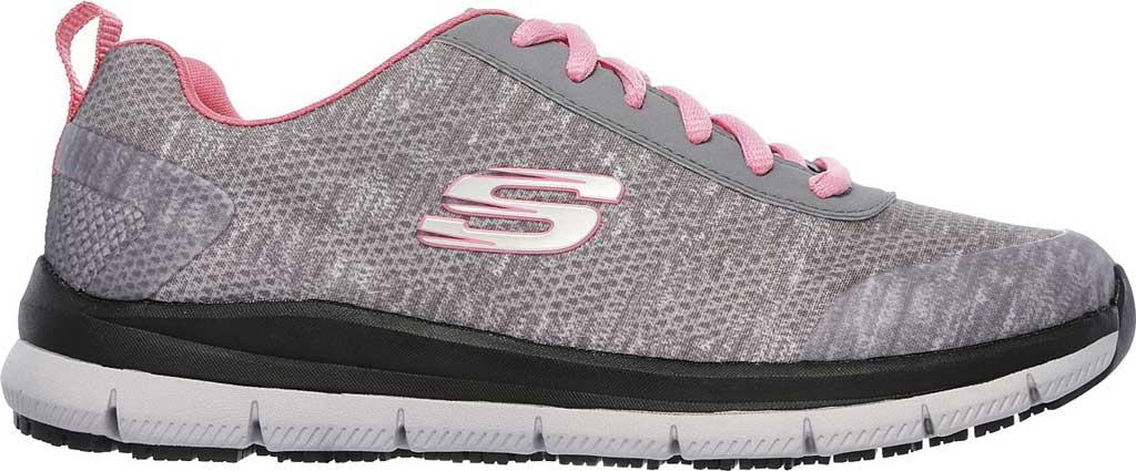 Women's Skechers Work Relaxed Fit Comfort Flex Pro HC SR Sneaker, Gray/Pink, large, image 2