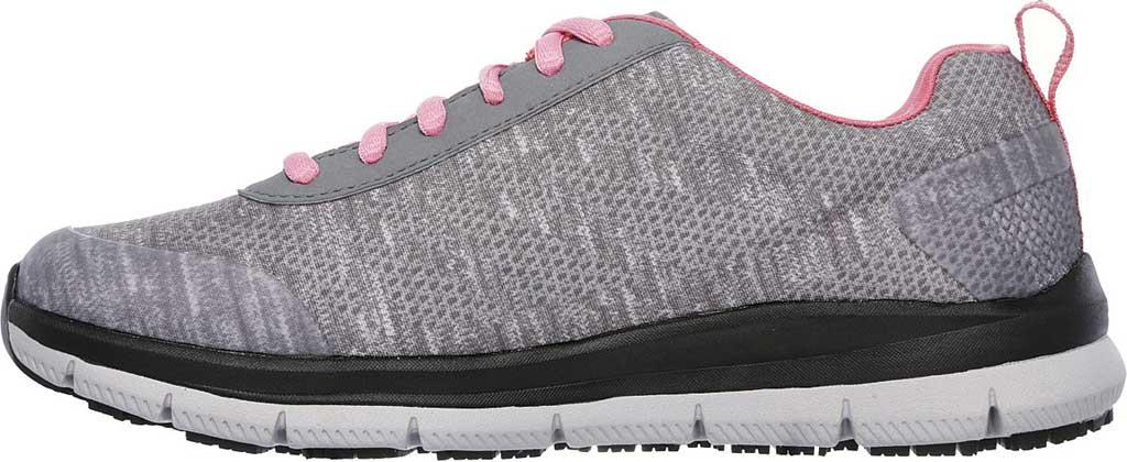 Women's Skechers Work Relaxed Fit Comfort Flex Pro HC SR Sneaker, Gray/Pink, large, image 3