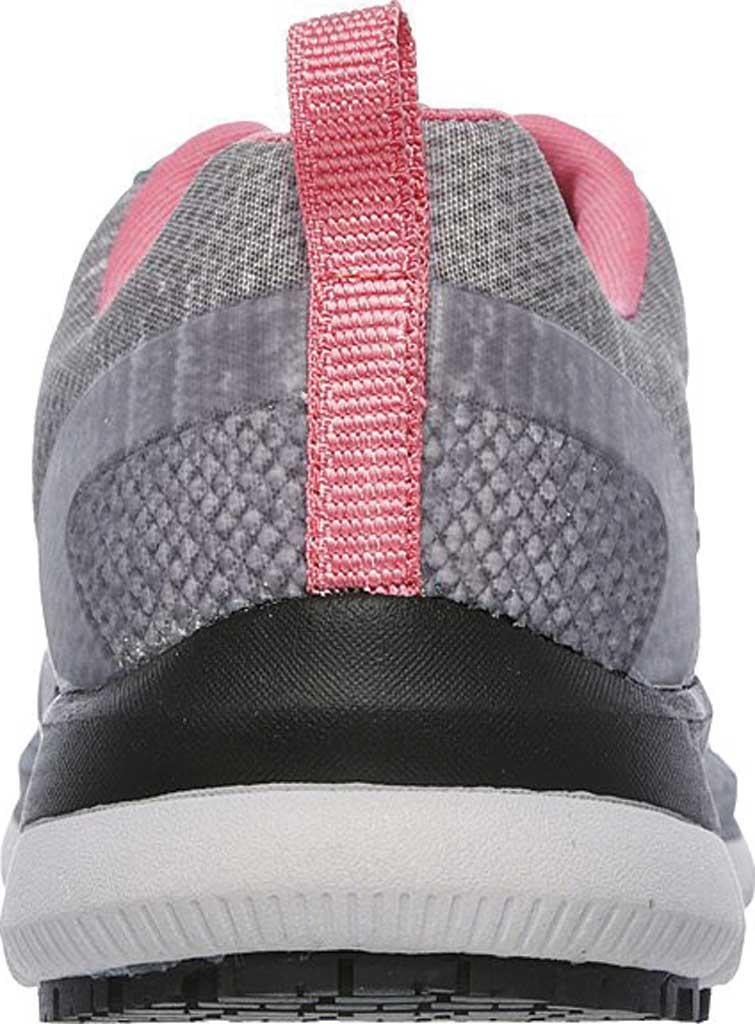 Women's Skechers Work Relaxed Fit Comfort Flex Pro HC SR Sneaker, Gray/Pink, large, image 4