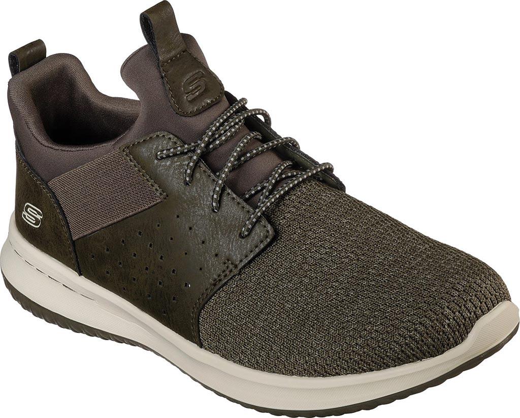 Men's Skechers Delson Camben Slip On Sneaker, Olive, large, image 1