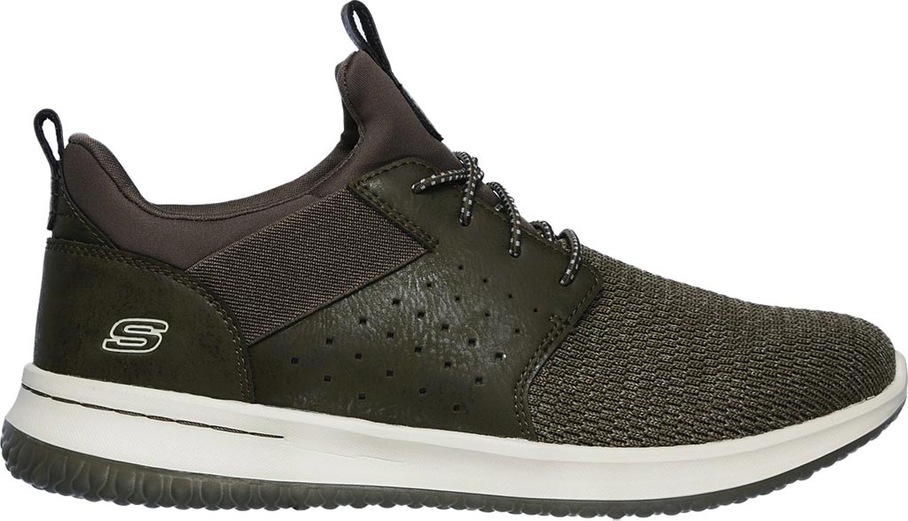 Men's Skechers Delson Camben Slip On Sneaker, Olive, large, image 2