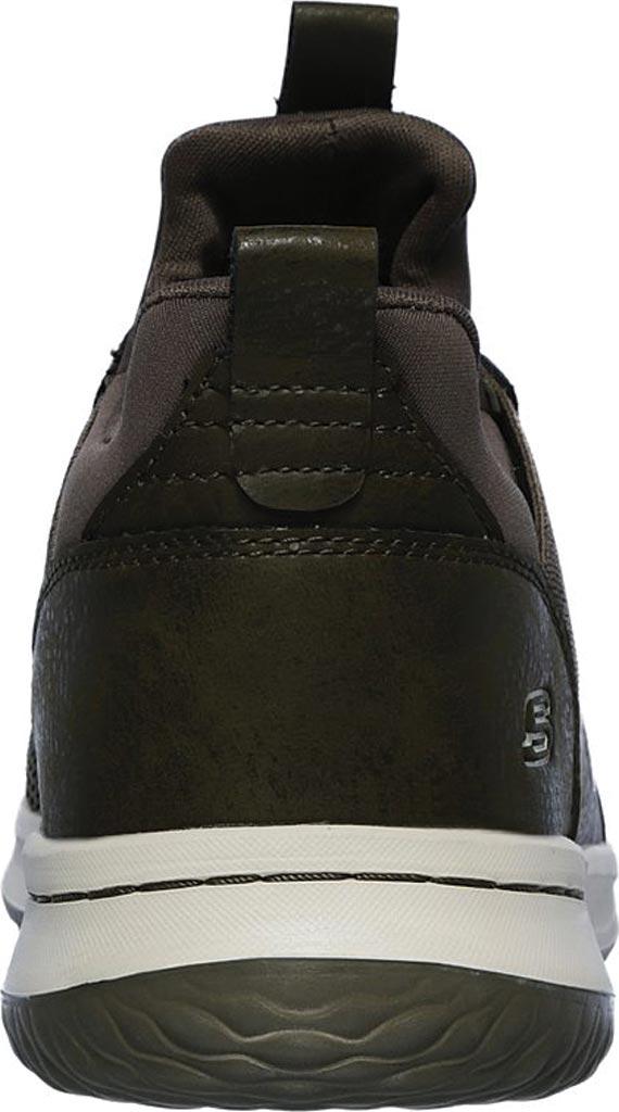 Men's Skechers Delson Camben Slip On Sneaker, Olive, large, image 4
