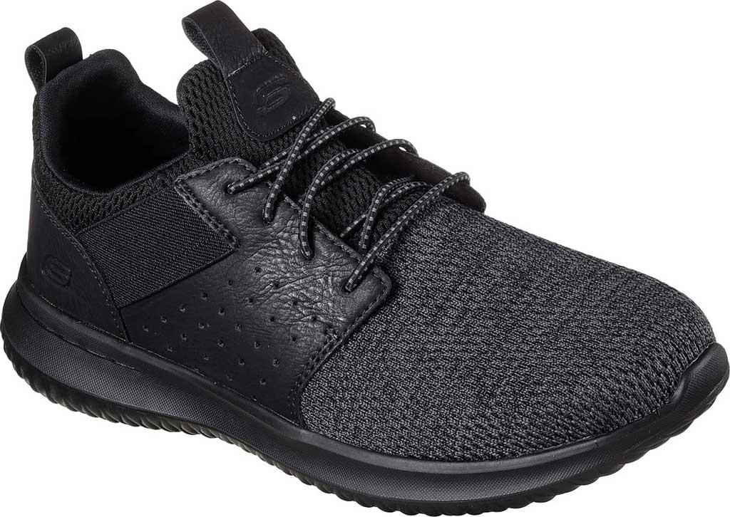 Men's Skechers Delson Camben Slip On Sneaker, Black/Black, large, image 1