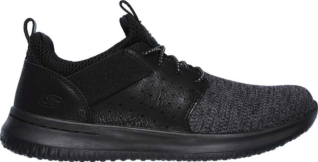 Men's Skechers Delson Camben Slip On Sneaker, Black/Black, large, image 2