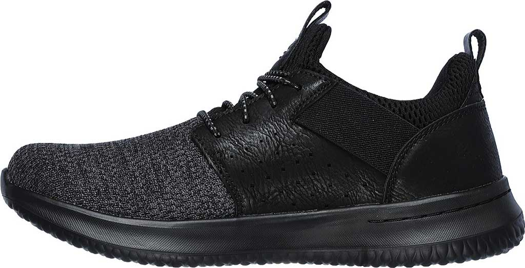 Men's Skechers Delson Camben Slip On Sneaker, Black/Black, large, image 3