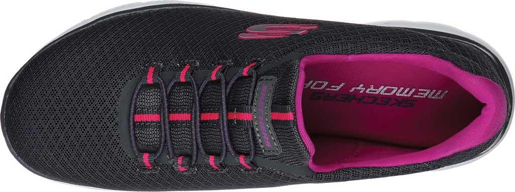 Women's Skechers Summits Sneaker, Charcoal/Purple, large, image 4