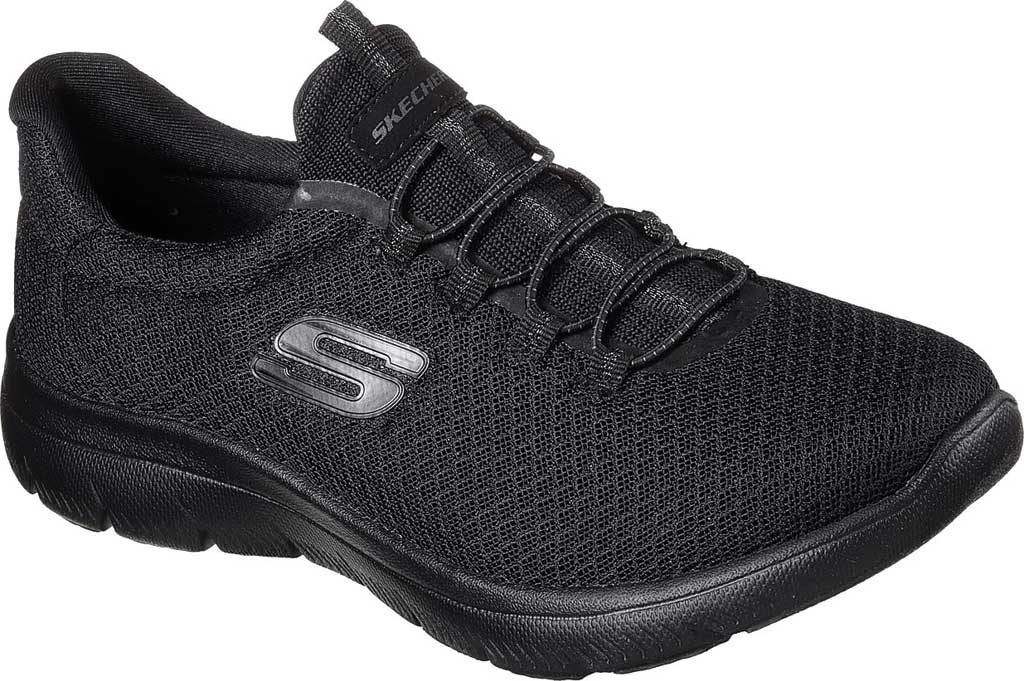Women's Skechers Summits Sneaker, Black, large, image 1