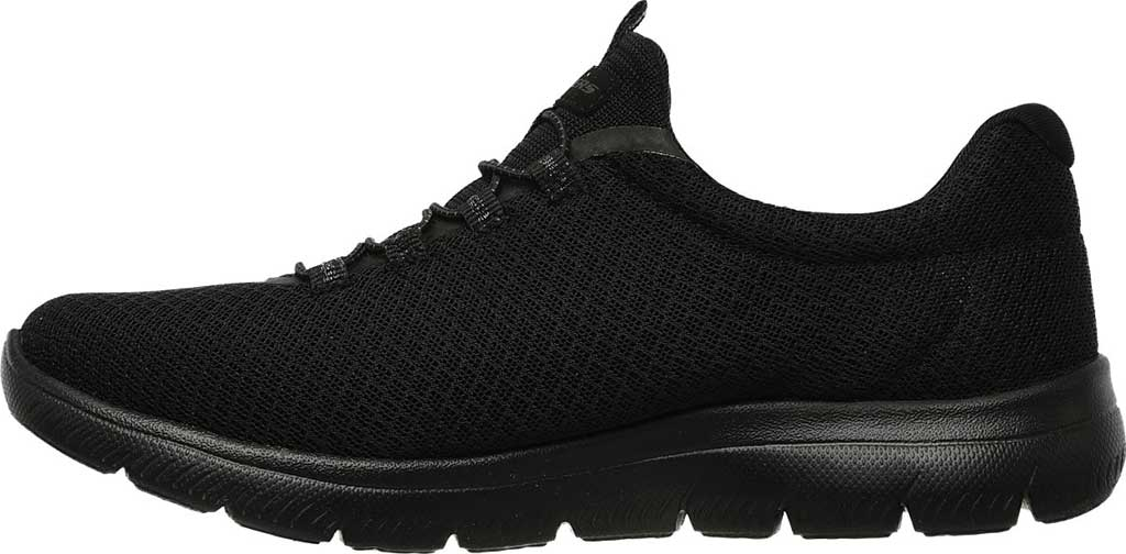 Women's Skechers Summits Sneaker, Black, large, image 3