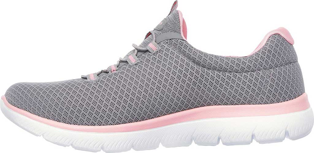 Women's Skechers Summits Sneaker, Gray/Pink, large, image 3