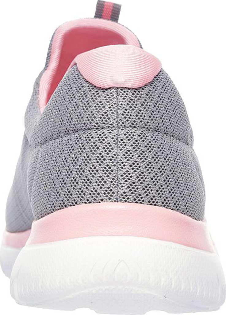 Women's Skechers Summits Sneaker, Gray/Pink, large, image 4