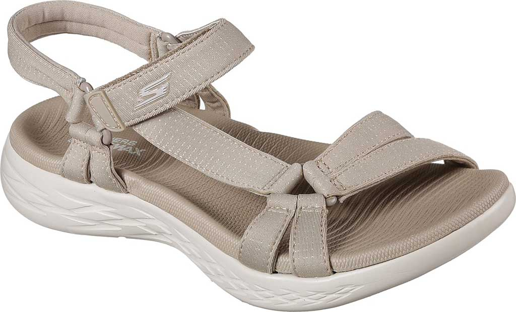 Women's Skechers On the GO 600 Brilliancy Ankle Strap Sandal, Natural, large, image 1