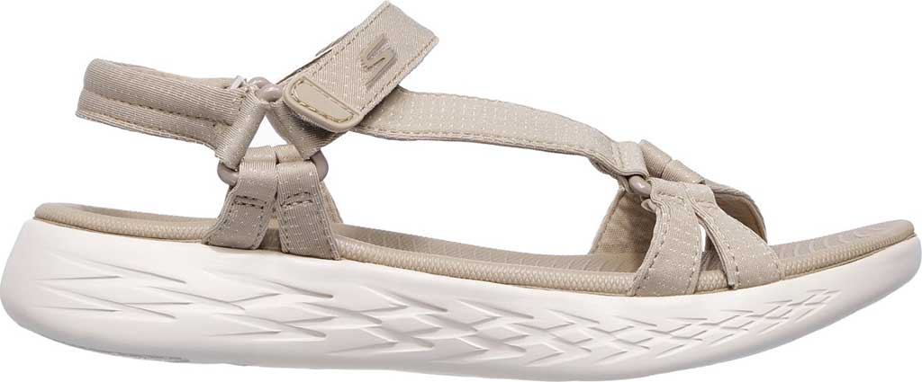 Women's Skechers On the GO 600 Brilliancy Ankle Strap Sandal, Natural, large, image 2