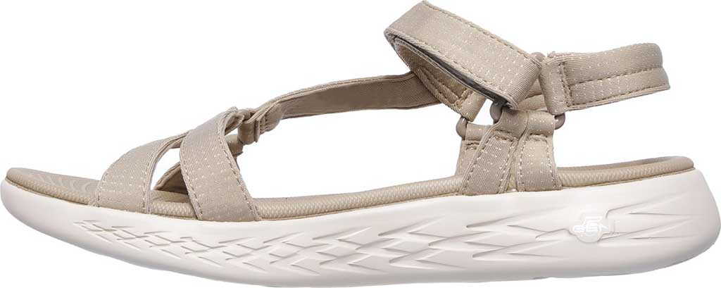 Women's Skechers On the GO 600 Brilliancy Ankle Strap Sandal, Natural, large, image 3
