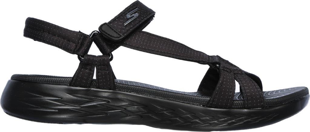 Women's Skechers On the GO 600 Brilliancy Ankle Strap Sandal, Black/Black, large, image 2