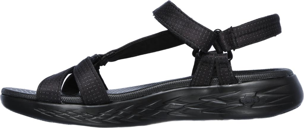 Women's Skechers On the GO 600 Brilliancy Ankle Strap Sandal, Black/Black, large, image 3