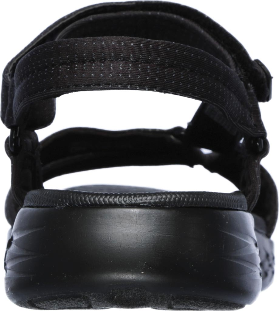 Women's Skechers On the GO 600 Brilliancy Ankle Strap Sandal, Black/Black, large, image 4