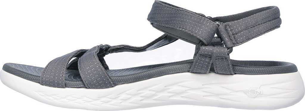 Women's Skechers On the GO 600 Brilliancy Ankle Strap Sandal, Charcoal, large, image 3