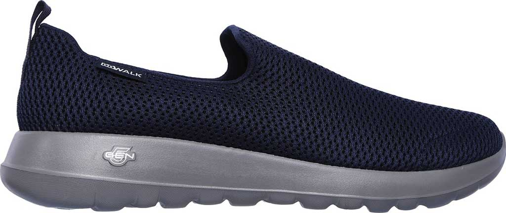 Men's Skechers GOwalk Max Slip-On Walking Shoe, Navy/Gray, large, image 2