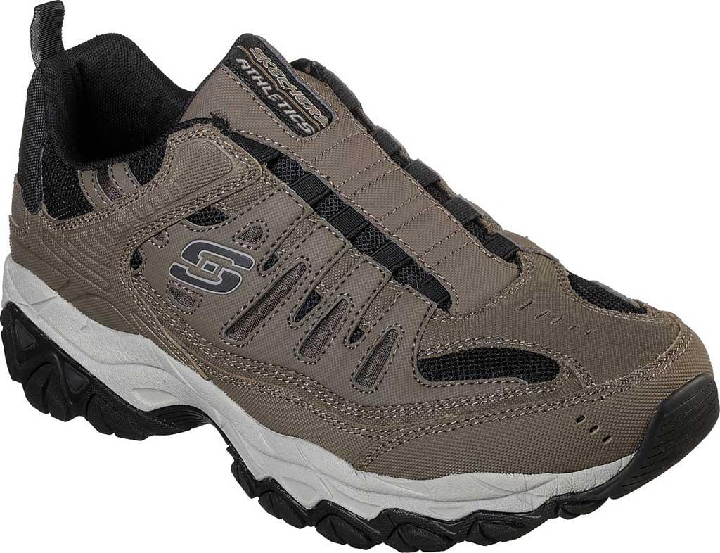 Men's Skechers After Burn M. Fit Slip On Walking Shoe, Brown, large, image 1