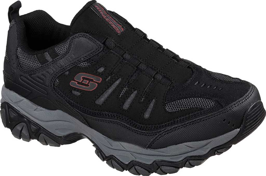 Men's Skechers After Burn M. Fit Slip On Walking Shoe, Black/Charcoal, large, image 1