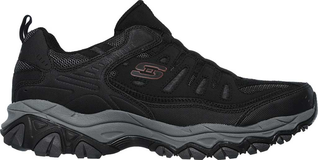 Men's Skechers After Burn M. Fit Slip On Walking Shoe, Black/Charcoal, large, image 2