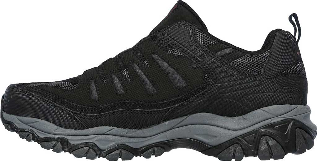 Men's Skechers After Burn M. Fit Slip On Walking Shoe, Black/Charcoal, large, image 3
