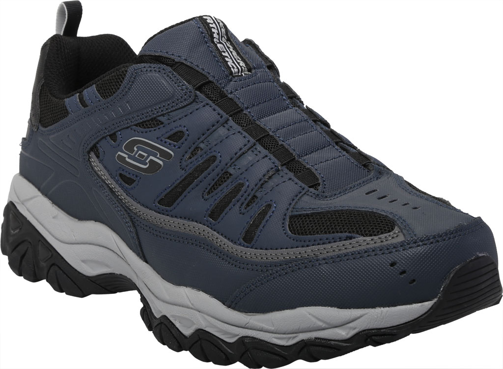 Men's Skechers After Burn M. Fit Slip On Walking Shoe, Navy/Black, large, image 1