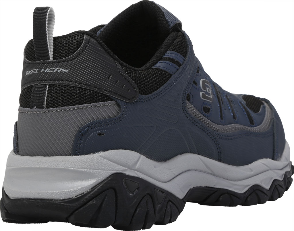 Men's Skechers After Burn M. Fit Slip On Walking Shoe, Navy/Black, large, image 4