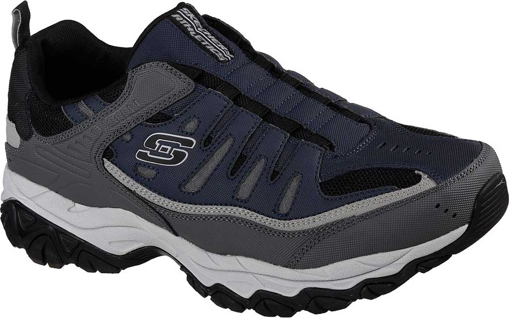 Men's Skechers After Burn M. Fit Slip On Walking Shoe, Navy/Gray, large, image 1