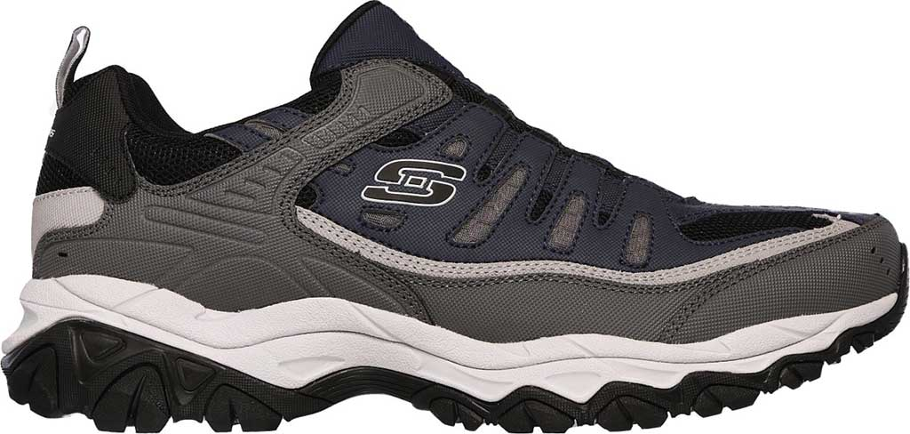 Men's Skechers After Burn M. Fit Slip On Walking Shoe, Navy/Gray, large, image 2