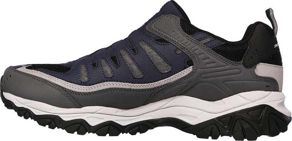 Men's Skechers After Burn M. Fit Slip On Walking Shoe, Navy/Gray, large, image 3